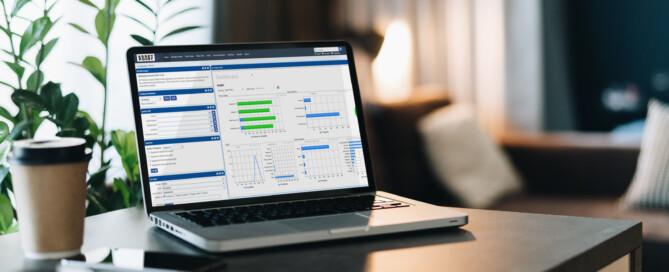 Asset Point Portal on Laptop